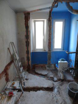 rekonstrukce zděné koupelny Trutnov